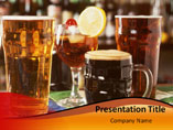 Powerpoint Templates on Drink Party
