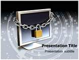 Computer Security Lock System PowerPoint Templates