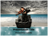 Girl With Violin Pics PowerPoint Templates