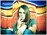 Smoking Teens PowerPoint Templates