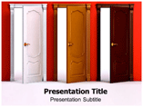 Doors And Rooms PowerPoint Templates