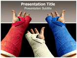 Hand Plaster PowerPoint Templates