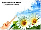 Painting The Green World PowerPoint Templates