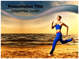 Sunset Jogging PowerPoint Templates