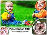 Twins Babies PowerPoint Templates