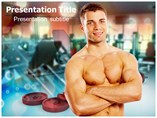 Fitness For Man PowerPoint Templates