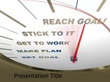 Setting Goal PowerPoint Theme