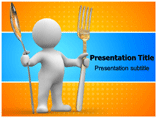 Fork And Spoon PowerPoint Templates