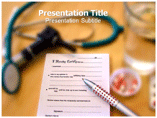 medical certificate PowerPoint Templates