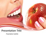 Teeth and Apple - PPT Templates