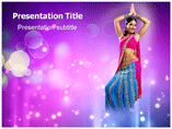 Saree Model Photo PowerPoint Templates