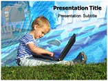 Computer Kid PowerPoint Templates