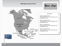 North America (Windows) PowerPoint map
