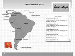 South America (Windows) powerpoint map