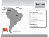 Map for Powerpoint (PPT) Templates
