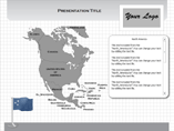 MAC North America Flash Maps Powerpoint Template