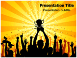 Victory Sign Powerpoint Templates