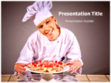 Female Chef Powerpoint Templates