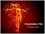 Flame Girl Powerpoint Templates