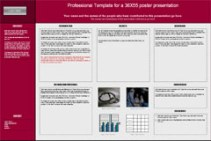 Poster Powerpoint Templates - Research poster Red
