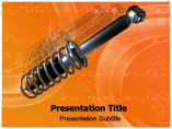 Car Shock Absorber Animated Template PowerPoint, PPT Template