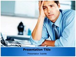 Business Trouble PowerPoint Theme