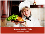 Female Chef Cooking Powerpoint Templates