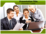 Business Environment Network PowerPoint Background