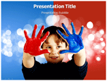 Colorful Hands Powerpoint Templates