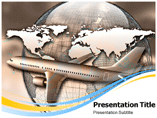 Global Airlines Powerpoint Templates