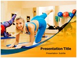 Aerobics Exercise powerpoint template