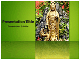 Buddha temple powerpoint template
