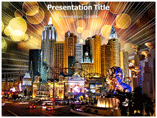 Lasvegas Time PowerPoint template