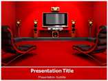 Home Theatre powerpoint template