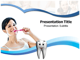 Tooth Brushing Technique powerpoint template