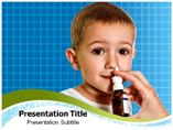 Nasal flu vaccine powerpoint template