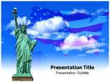 Statue of Liberty powerpoint template