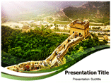 The Great wall of China powerpoint template