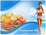 Healthy fitness powerpoint template