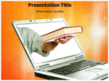 Online Book powerpoint template