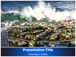 PowerPoint Template For Tsunami