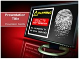Identification Theft Alert PowerPoint Templates