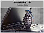Computer Terrorism PowerPoint Templates