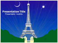 paris tower powerpoint templates | powerpoint presentation on, Modern powerpoint