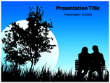 Romantic Night powerpoint template