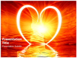 Heart Reflection powerpoint template