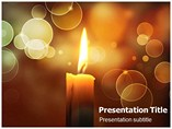 Pillar Candles Template PowerPoint