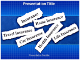 types of insurance powerpoint template
