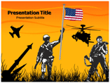 american soldier powerpoint template