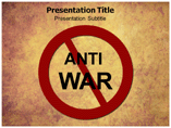 Anti war powerpoint template